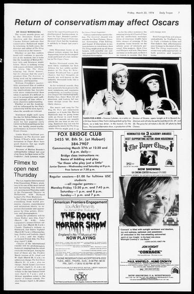 Daily Trojan, Vol. 66, No. 96, March 22, 1974