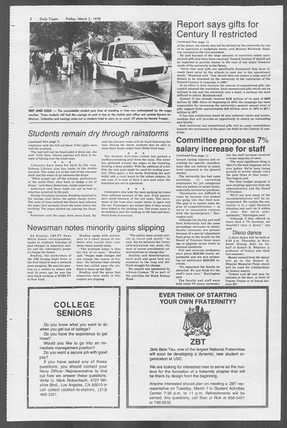 Daily Trojan, Vol. 73, No. 17, March 03, 1978