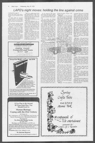 Daily Trojan, Vol. 73, No. 57, May 10, 1978