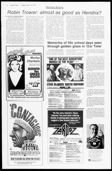 Daily Trojan, Vol. 66, No. 124, May 10, 1974