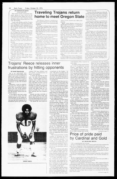 Daily Trojan, Vol. 67, No. 29, October 25, 1974