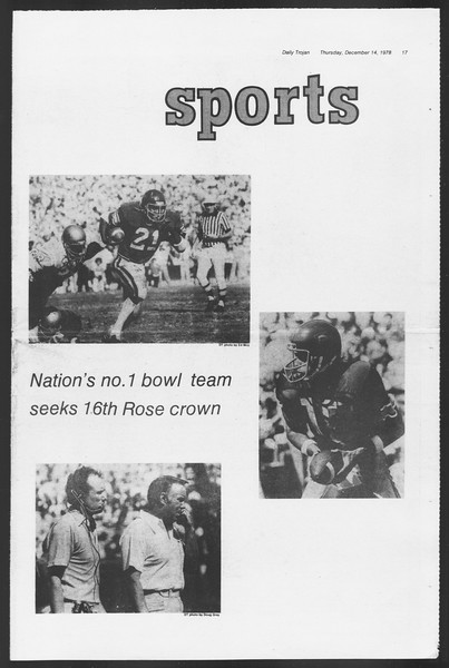 Daily Trojan, Vol. 75, No. 55, December 14, 1978