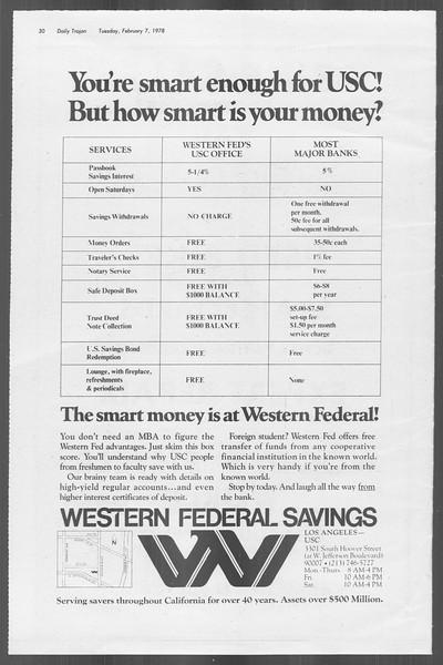 Daily Trojan, Vol. 73, No. 1, February 07, 1978