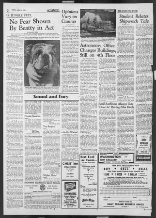 Daily Trojan, Vol. 46, No. 115, April 15, 1955