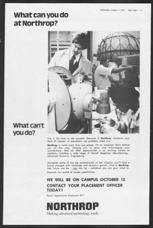 Daily Trojan, Vol. 75, No. 17, October 11, 1978