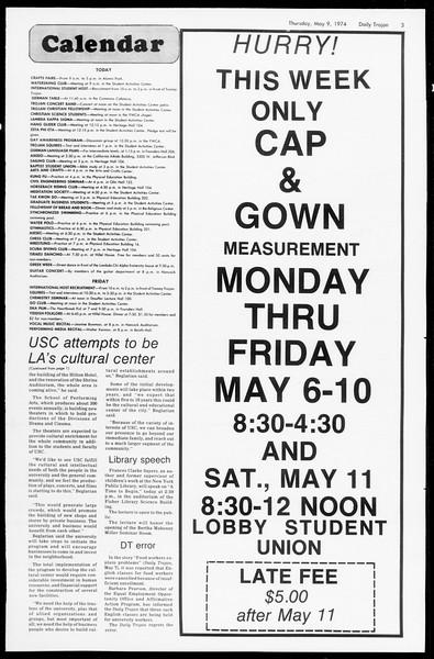 Daily Trojan, Vol. 66, No. 123, May 09, 1974