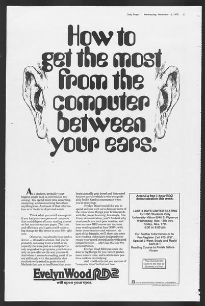 Daily Trojan, Vol. 75, No. 38, November 15, 1978