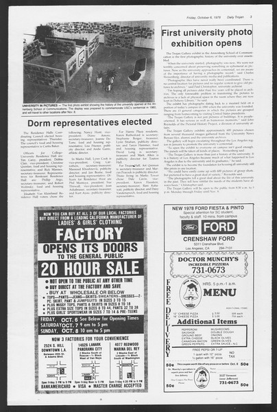 Daily Trojan, Vol. 75, No. 14, October 06, 1978