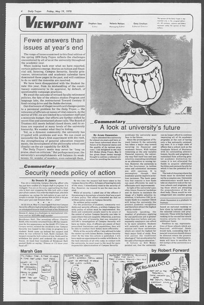 Daily Trojan, Vol. 73, No. 64, May 19, 1978