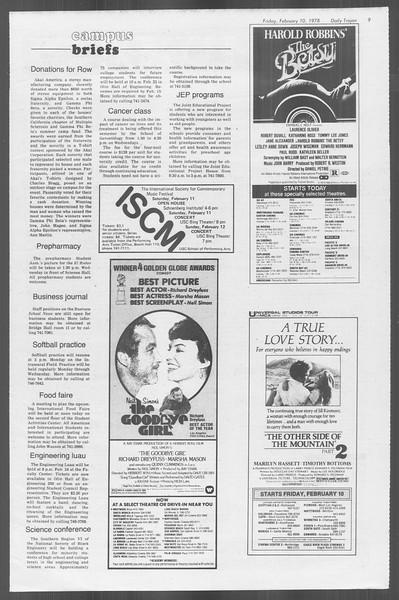 Daily Trojan, Vol. 73, No. 4, February 10, 1978