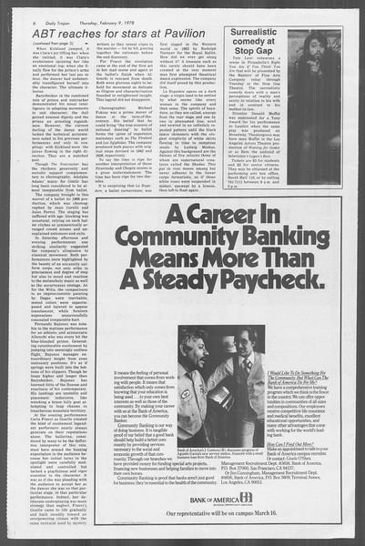 Daily Trojan, Vol. 73, No. 3, February 09, 1978