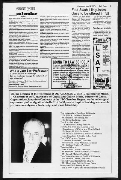 Daily Trojan, Vol. 68, No. 128, May 12, 1976