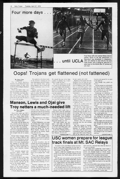 Daily Trojan, Vol. 68, No. 117, April 27, 1976