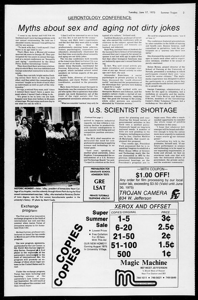 Summer Trojan, Vol. 68, No. 1, June 17, 1975