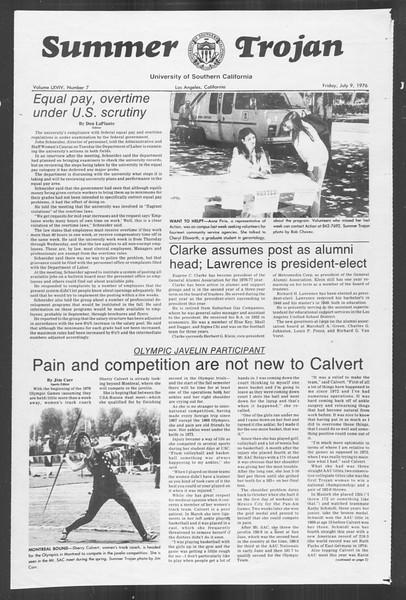 Summer Trojan, Vol. 69, No. 7, July 09, 1976