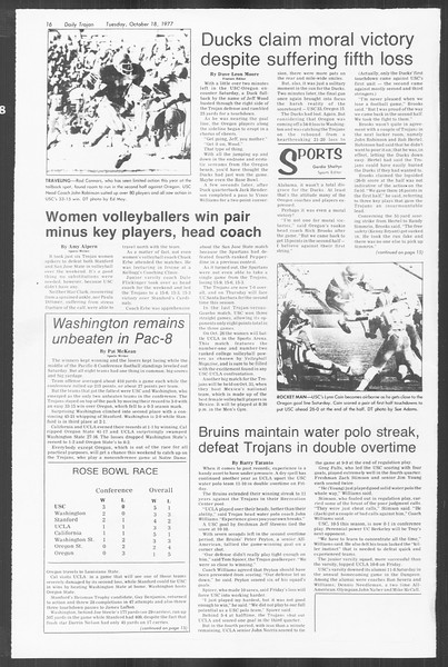 Daily Trojan, Vol. 72, No. 21, October 18, 1977