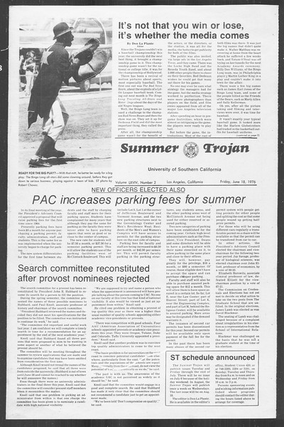 Summer Trojan, Vol. 69, No. 2, June 18, 1976