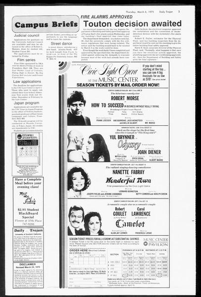 Daily Trojan, Vol. 67, No. 86, March 06, 1975