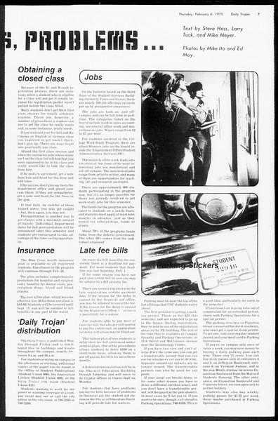 Daily Trojan, Vol. 67, No. 68, February 06, 1975