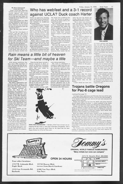 Daily Trojan, Vol. 72, No. 64, January 13, 1978