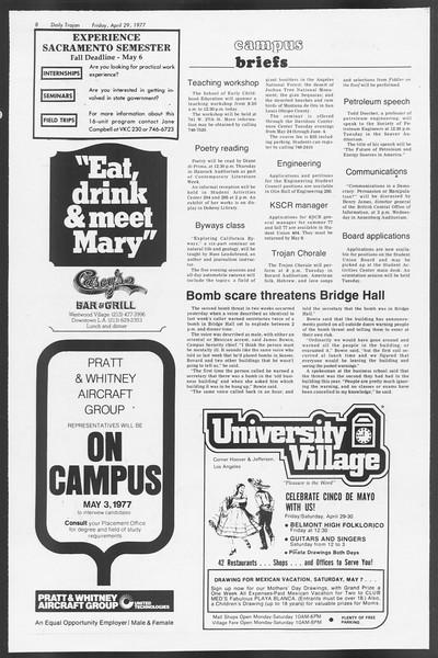 Daily Trojan, Vol. 71, No. 49, April 29, 1977