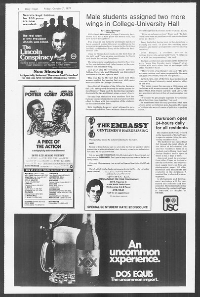 Daily Trojan, Vol. 72, No. 15, October 07, 1977