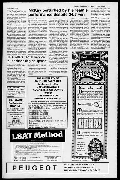 Daily Trojan, Vol. 68, No. 5A, September 23, 1975