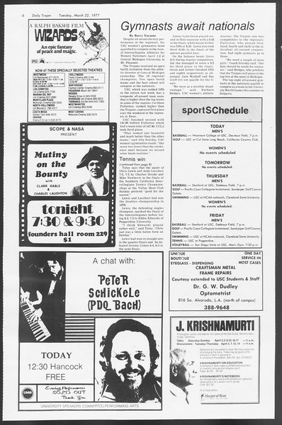 Daily Trojan, Vol. 71, No. 29, March 22, 1977