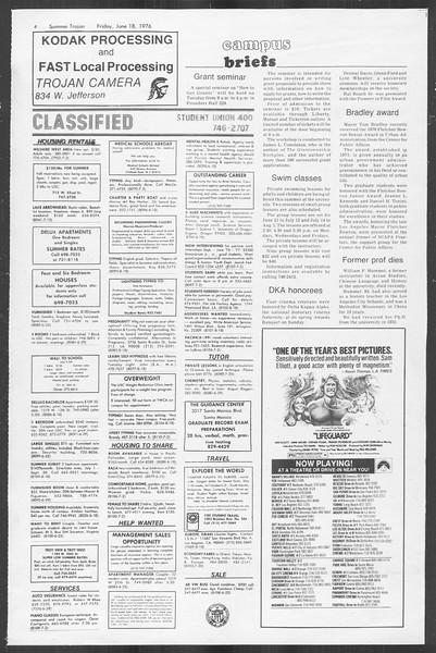 Summer Trojan, Vol. 69, No. 2, June 18, 1976
