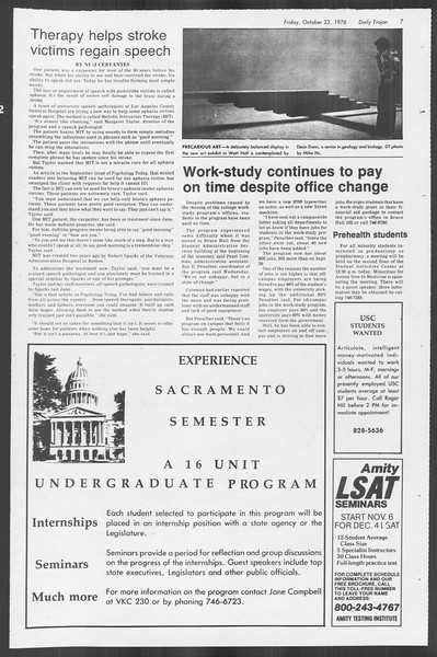 Daily Trojan, Vol. 70, No. 24, October 22, 1976