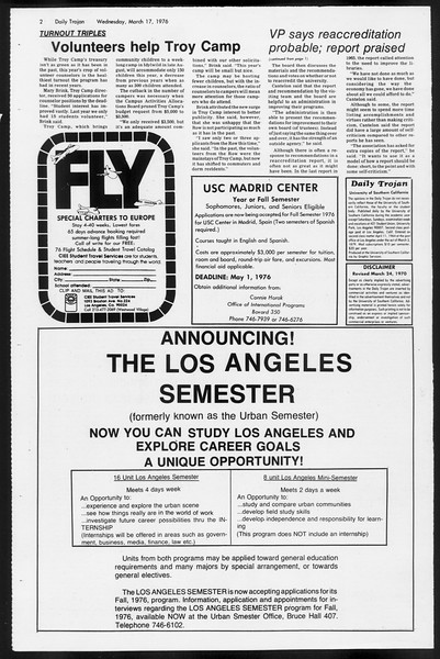 Daily Trojan, Vol. 68, No. 95, March 17, 1976