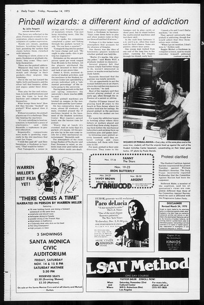 Daily Trojan, Vol. 68, No. 41, November 14, 1975