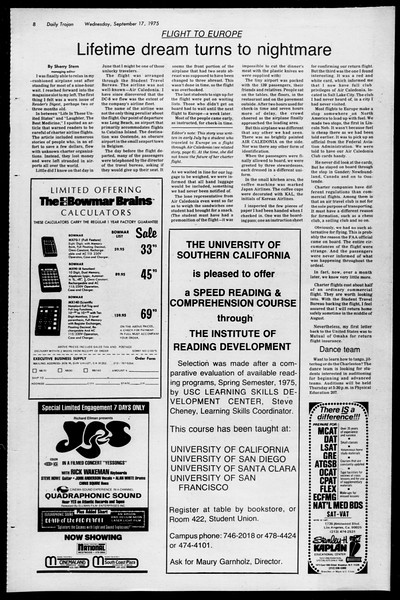 Daily Trojan, Vol. 68, No. 2, September 17, 1975