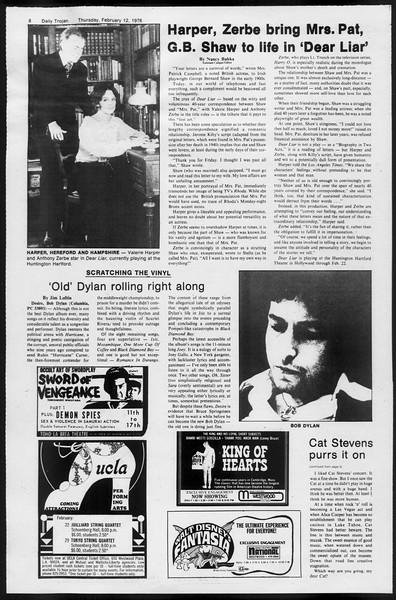 Daily Trojan, Vol. 68, No. 73, February 12, 1976