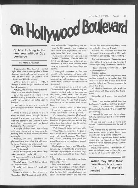 SoCal, Vol. 70, No. 53, December 13, 1976