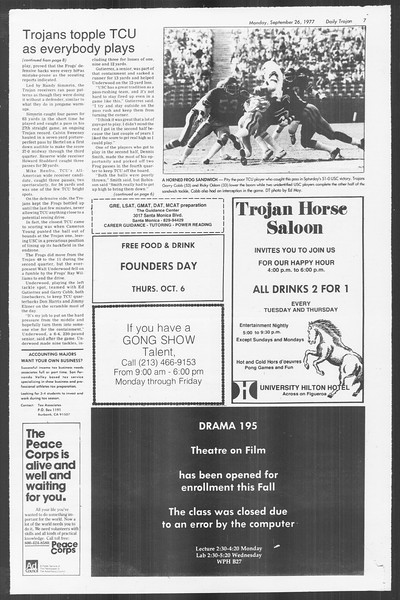 Daily Trojan, Vol. 72, No. 6, September 26, 1977