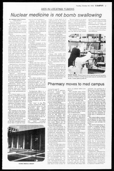 Daily Trojan, Vol. 67, No. 31, October 29, 1974