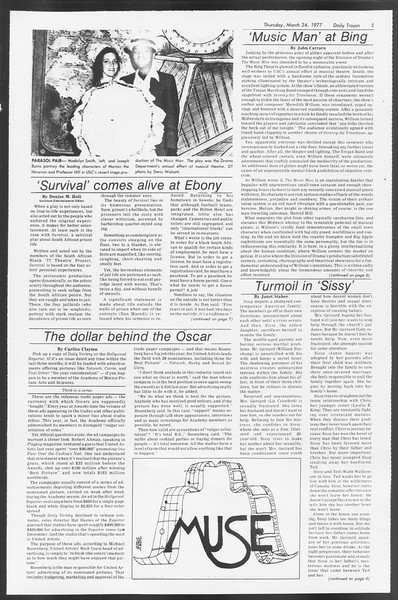 Daily Trojan, Vol. 71, No. 31, March 24, 1977