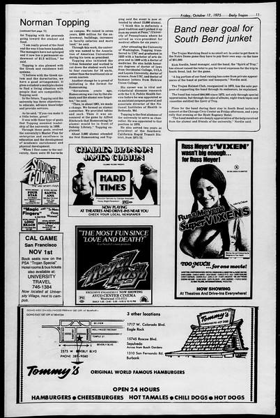 Daily Trojan, Vol. 68, No. 23, October 17, 1975