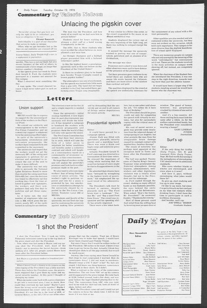 Daily Trojan, Vol. 70, No. 16, October 12, 1976