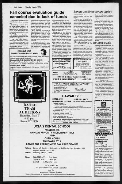 Daily Trojan, Vol. 68, No. 124, May 06, 1976