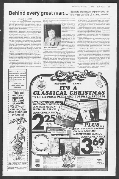 Daily Trojan, Vol. 70, No. 55, December 15, 1976