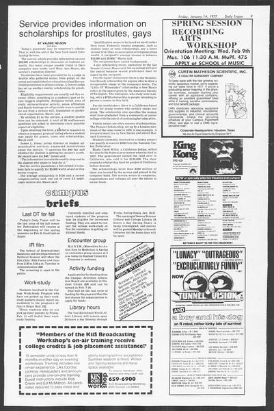 Daily Trojan, Vol. 70, No. 64, January 14, 1977