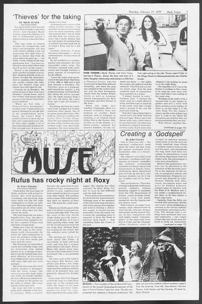 Daily Trojan, Vol. 71, No. 8, February 17, 1977