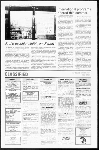 Daily Trojan, Vol. 67, No. 84, March 04, 1975