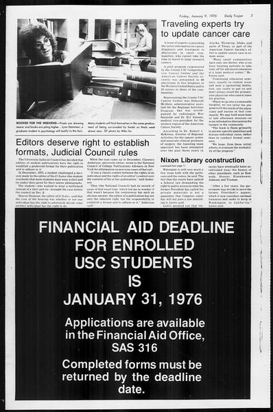 Daily Trojan, Vol. 68, No. 64, January 09, 1976