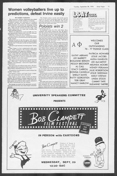 Daily Trojan, Vol. 70, No. 7, September 28, 1976