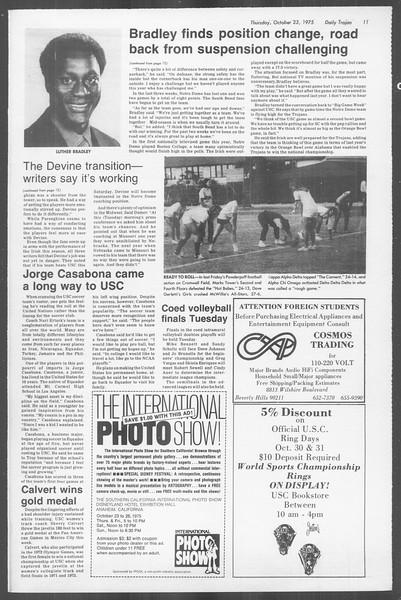Daily Trojan, Vol. 68, No. 27, October 23, 1975
