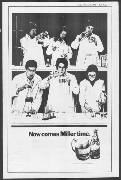 Daily Trojan, Vol. 70, No. 24, October 22, 1976