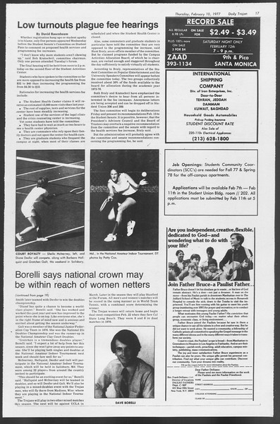Daily Trojan, Vol. 71, No. 3, February 10, 1977